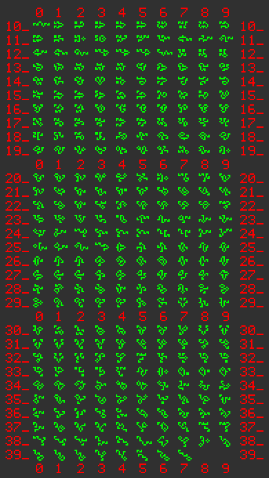 17-bit still life index pattern